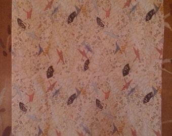 Abstract bird fabric piece