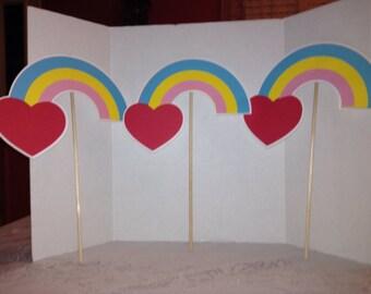 Cute Rainbow Centerpiece Set of Three