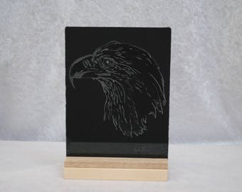 Hand etched picture - Eagle