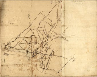 Poster, Many Sizes Available; Road Map Camden & Gloucester New Jersey 1777