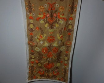Vintage Danish Linen Kitchen Towel