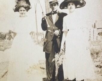 Rena, Fred & Della Putting on the Ritz Antique Photo
