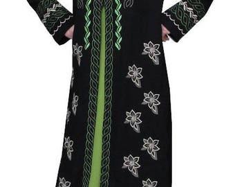 Dress,Fashion,Tops,Clothes,Abaya,Muslim,Clothing,Clothes,woman,girl,coat,jacket,Dress with Flower,ladies dress,abaya dress,long dress,S,M,L