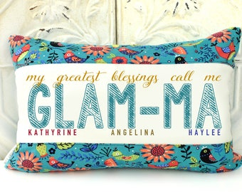Grandma gift, grandparent gift, mother's day gift, personalized pillow