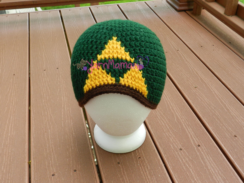 Triforce Hat - Video Game Hat - Crochet Zelda - Tri-force Hat ...
