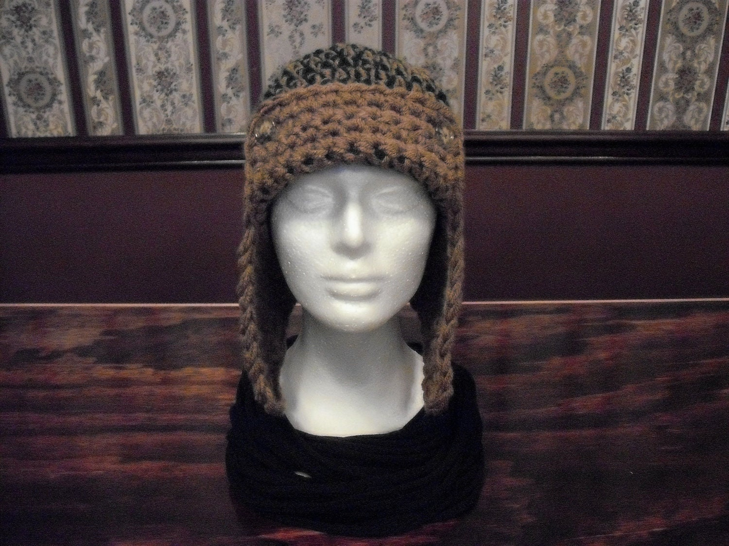 Pattern child and adult aviator with earflaps hat crocheted zoom bankloansurffo Gallery