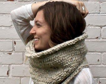 Herringbone Knit Cowl | Infinity Scarf