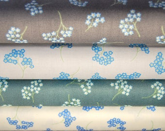 Lewis & Irene Flo's Wildflowers Forget-Me-Nots Cotton Fabric