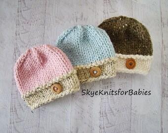 Newborn Boy, Newborn Girl, Knit Baby Hat, Baby Beanie, Newborn Hat, Baby Boy Hat, Baby Girl Hat, Photography Prop, Newborn Photo Prop