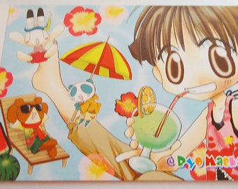 Eight Japanese Kawaii PostCards.80s.Natsumi Matsumoto