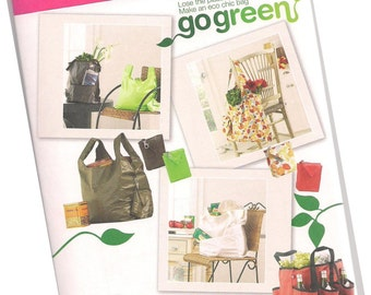SIMPLICITY 2806 market bags, five styles, grocery bags, shopping bags, new and uncut