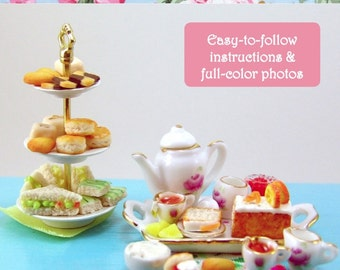 Miniature Food Tutorial - Dollhouse Miniature Tea Party Foods - DIY Mini Sweets Polymer Clay Tutorial