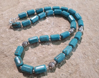 "Magnesite Necklace ""Turquoise Colours"" #698"