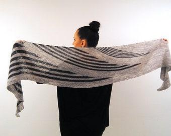 CONTINUA Knitting Pattern PDF Fingering Weight Shawl