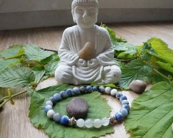 Moonstone and Brazilian Sodalite bracelet