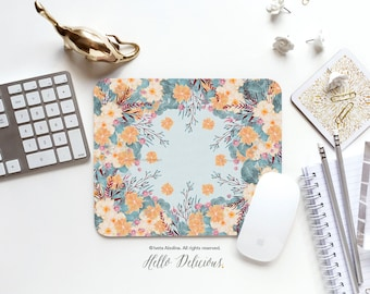 "Mouse Pad ""Tropical Air"" by Iveta Abolina Mousepad Mouse Mat Floral Mouse Pad Office Mousemat Rectangular Mousemat Mousepad Round 52."