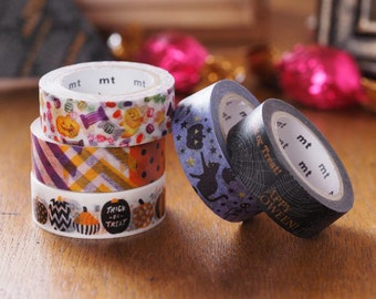 MT ex Halloween Japanese Washi Masking Tapes at your choice and sampler