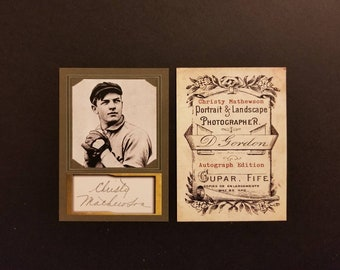 Christy Mathewson Photo / Autograph Custom Art Card ACEO Auto (Free Shipping) ..... Read Listing For 25% OFF SALE + Extra Free Cards