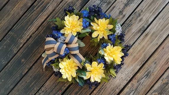Spring Wreath, Summer Wreath, Mother's Day Wreath, Wedding Wreath, Ready to Ship
