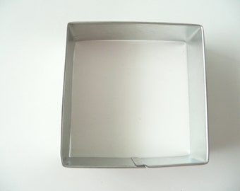 """3"""" Square Shape Cookie Cutter Tin Plated Fondant"""