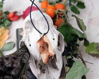 Birch necklace, birch bark unique necklace, nature jewellery, botanical, birch pendant, necklace