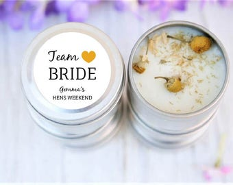 Team Bride, Candle Favours, Hens Ideas, Bridal Shower Gifts, Kitchen Tea, Bridal Shower Candles, Hens, Wedding, Favours, Rustic Wedding