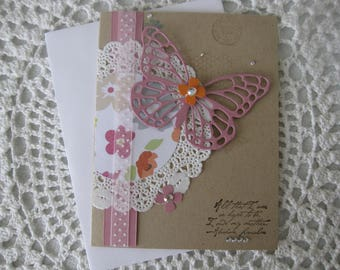 Handmade Greeting Card: Butterfly Mother's Day