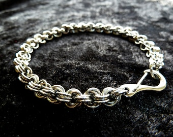 Single Fleur Stainless Steel (4mm) Chainmail Jewellery Bracelet