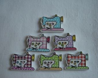 6 buttons sewing MACHINE / / 20 x 30 mm