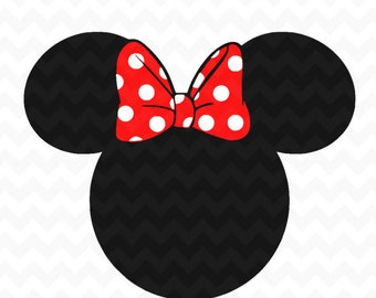 Minnie Mouse SVG, Minnie Mouse head LAYERED Instant Download, Minnie Mouse Cut File, Minnie Mouse for Silhouette and  Cricut