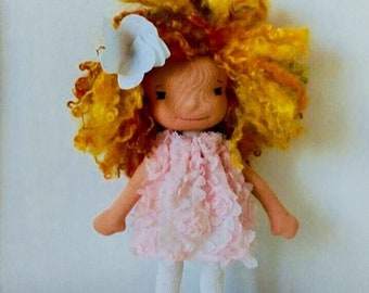 """Lucy 11"""" Waldorf inspired doll"""
