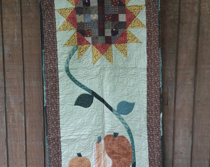 Indian Summer a mix of patchwork and applique wall hanging or door hanger pdf quilt pattern