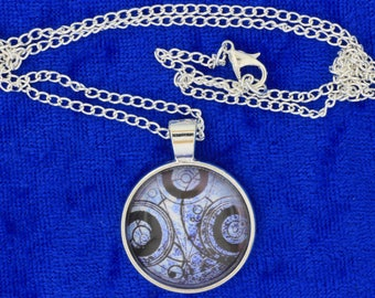 Seal on Ancient Paper Timelord Necklace or Keychain Doctor Who TV Inspired Dr Who