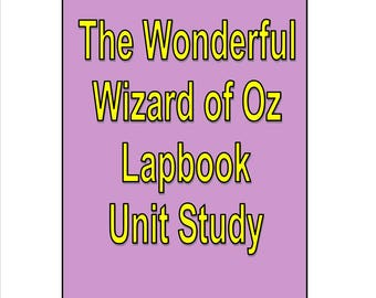 Wonderful Wizard of Oz Lapbook Unit Study Supplement