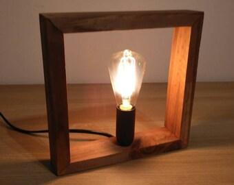 wood lamp, desk lamp, design lamp, handcraft lamp