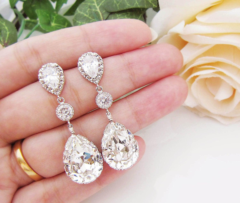 Wedding jewelry bridal earrings bridesmaid earrings dangle zoom junglespirit Gallery