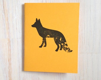 Medium Notebook: Fox, Yellow, Animal, Kids, Foxy, Blank Journal, Wedding, Favor, Journal, Blank, Unlined, Unique, Gift, Small, Notebook B253