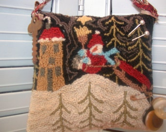 Christmas Punch Needle Pattern   Sleigh Ride