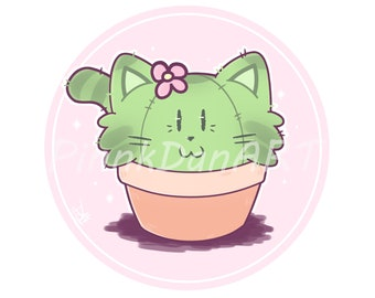 Cactus Cat Prints (5 x 5)