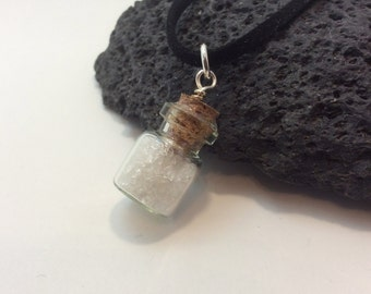birthstone bottle of gems - april - rock quartz
