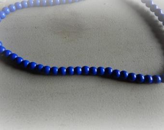 20 round blue howlite Crackle effect 8 mm