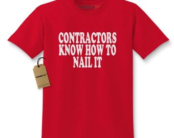 Contractors Know How To Nail It Kids T-shirt
