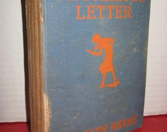 """Nancy Drew #8 """"Nancy's Mysterious Letter"""" by Carolyn Keene 1932 HC 1st EDITION"""