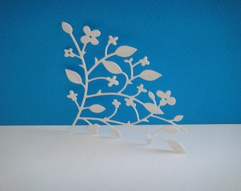 Cut corner white flower for scrapbooking and card