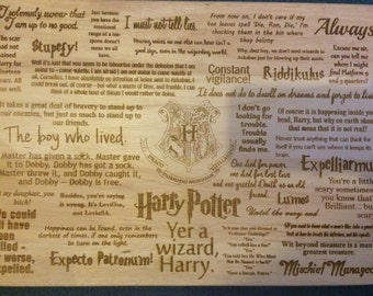 Harry Potter Inspired Quotes Wooden Chopping Cutting Board