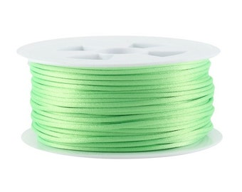 5, 10, 20 or 50 meters of 1.5 mm or 2.2 mm (Chinese string) rat tail light neon green