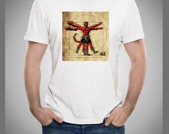 Hell Boy Leonardo Da Vinci Vitruvian Man T Shirt
