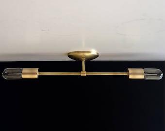 Draper Collection .  Vanity Light - Mini Flush Mount Ceiling Light .  Mid Century Inspired  .  Modern Minimalist
