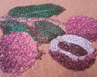 Lychee Embroidery Pattern/Embroidery Design