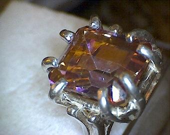 Stunning Mystic Azotic Topaz Ring